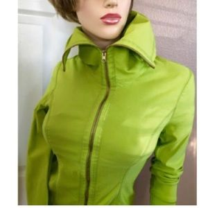 Joseph Ribkoff Lime Green Activewear Jacket, 8